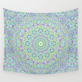 Groovy Trippy Colorful Boho Hippie Mandala 2 Wall Tapestry