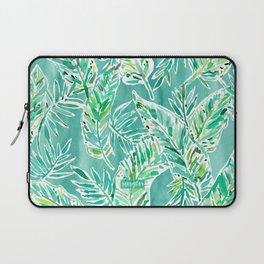 LEAFY ABUNDANCE Green Banana Leaf Print Laptop Sleeve