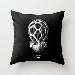 iFunch brown Throw Pillow
