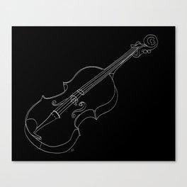 Violin in lines Canvas Print
