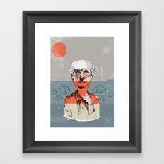 taking a bath Framed Art Print