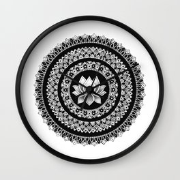 Lotus Mandala Wall Clock