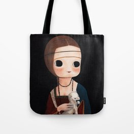The Lady with Ermine Tote Bag