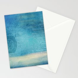 Decorative Blue Writing Texture Vintage Stationery Cards