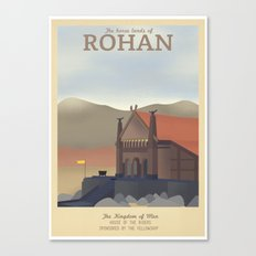 Retro Travel Poster Series - The Lord of the Rings - Rohan Canvas Print