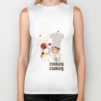cooking Biker Tanks featuring Cooking Papa by inkdesigner