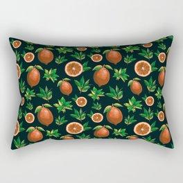 Lemon Love Orange Rectangular Pillow
