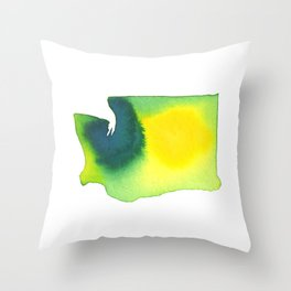 Washington Green Throw Pillow