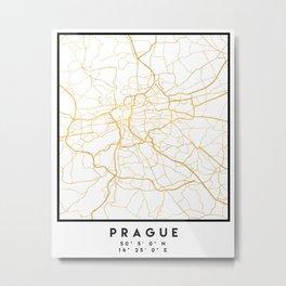 PRAGUE CZECH REPUBLIC CITY STREET MAP ART Metal Print