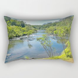 Magnificent tranquil river Rectangular Pillow
