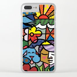 Abstract Colorful Living Kind Artwork Clear iPhone Case