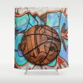 Basketball Graffiti Team Sports Design Shower Curtain