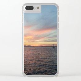 Sailboat Clear iPhone Case