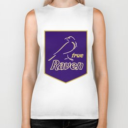 True Raven American Football Design black lettering Biker Tank