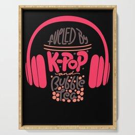 Kpop Quotes T Shirt Bubble Tea Boba Serving Tray