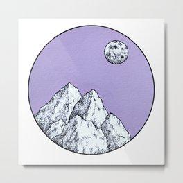 Purple Mountain Metal Print