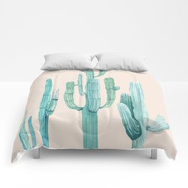 Three Amigos Turquoise + Coral Comforters