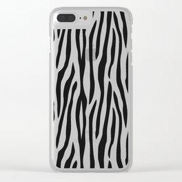 Abstract black white geometrical zebra animal print Clear iPhone Case