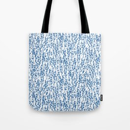 Petite Double Pussywillow Pattern — Blue Tote Bag