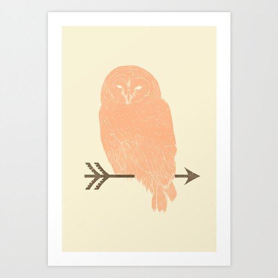 Owl and Arrow Art Print