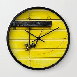 Yellow Compas Wall Clock