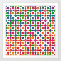 Random Dots V.2 Art Print