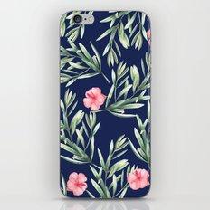 Delicate Hibiscus Blue iPhone Skin