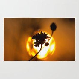 Sun hiding behind a flower 1 Rug