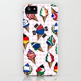 Ice cream flags iPhone Case