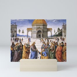 The Delivery of the Keys Painting by Perugino Sistine Chapel Mini Art Print