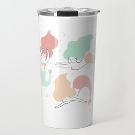 Colorful mermaids Travel Mug