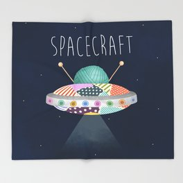 Spacecraft Throw Blanket