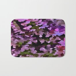 Foliage Abstract Pop Art In Ultra Violet and Purple Bath Mat