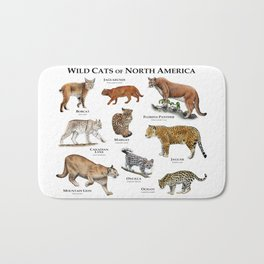 Wildcats of North America Bath Mat