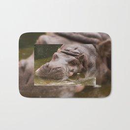 Huge bored Hippopotamus Bath Mat