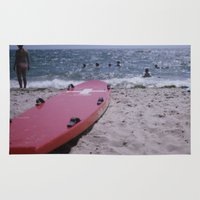 cape cod Area & Throw Rugs featuring Cape Cod Beach by IanPlath