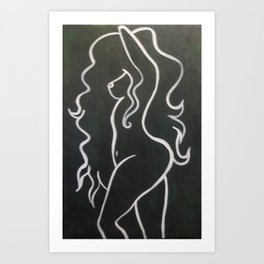 Shape of her Art Print
