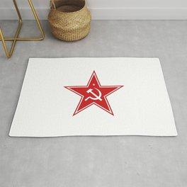 Red Star Hammer & Sickle Communist Rug
