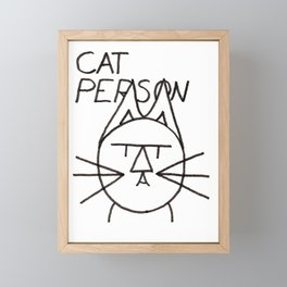 felttipcat cat person Framed Mini Art Print