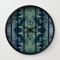 fern Wall Clocks featuring Fern by Good Sense