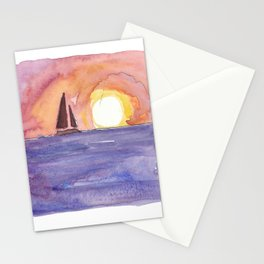 Key West Florida Conch Dreams Mallory Square Sunset Stationery Cards