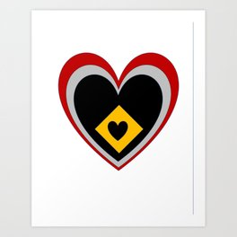 Multilayered Heart Art Print