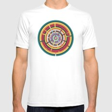 Lost in color White Mens Fitted Tee MEDIUM