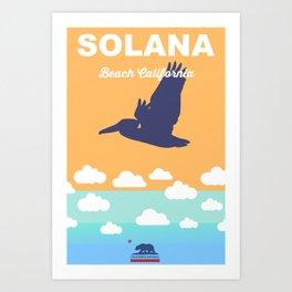 Solana Beach. Art Print