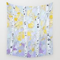 birch Wall Tapestries featuring October Birch by Ann Marie Coolick