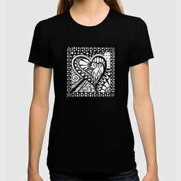 Abstract heart doodle T-shirt