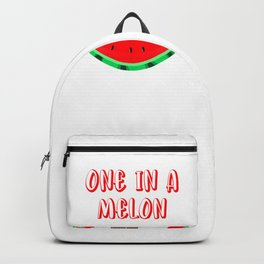 Cute Puppy Eating A Watermelon One In A Melon Backpack