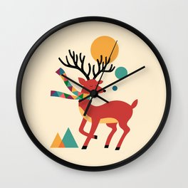 Deer Autumn Wall Clock