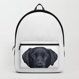 Labrador with white background Dog illustration original painting print Backpack