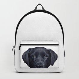 Labrador with white background Dog illustration original painting print Backpack